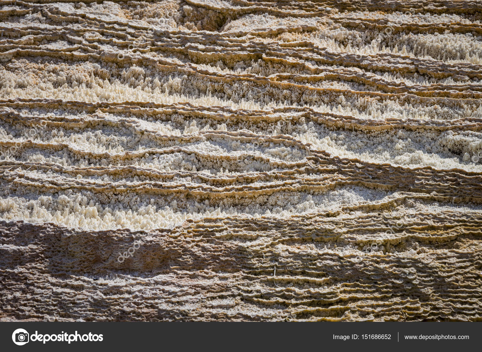 Close-up of mammoth Hot Springs, Yellowstone National Park — Stock