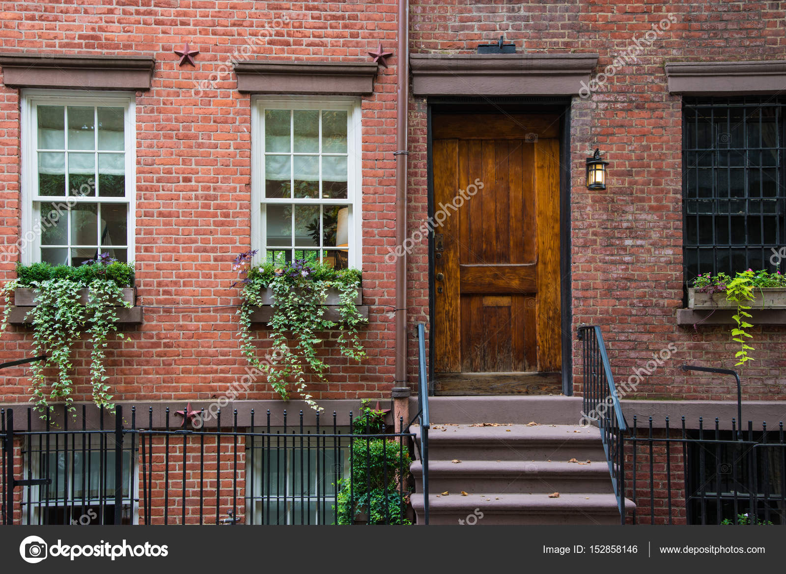 Classic New York Apartment Buildings In Greenwich Village U2014 Stock Photo