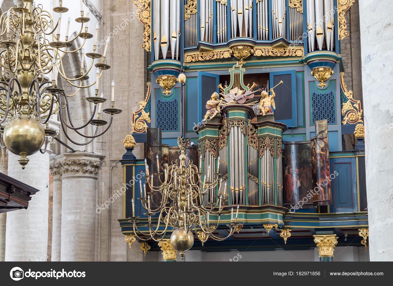 The Flentrop organ in the Grote Kerk in Breda, Holland