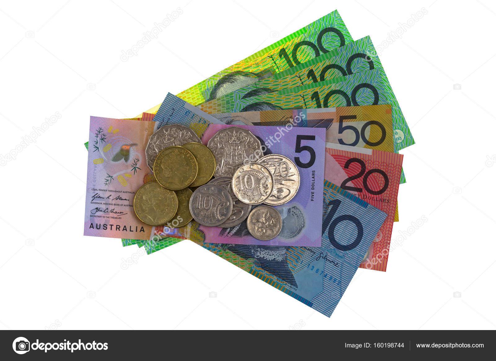 Avustralya Doları Sikke Ve Farklı Banknot Aud 5 10 20 50 100