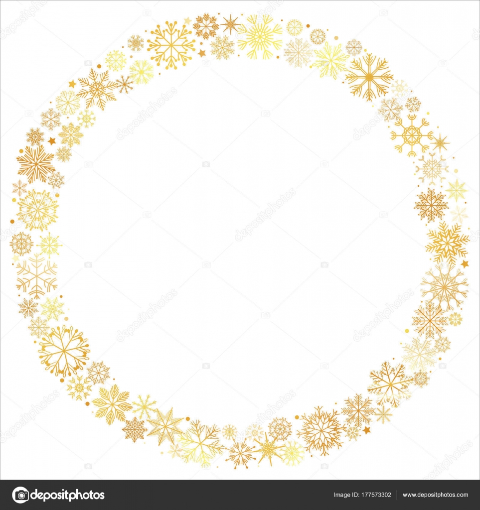 手のベクトル イラスト描画メリー クリスマス黄金キラキラ雪星花輪円