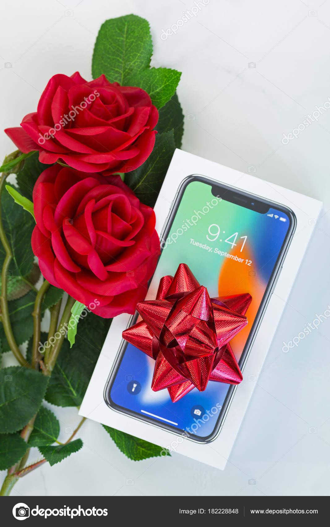 Boite De Nouvel Iphone X Iphone 10 Avec Vue De Dessus Du