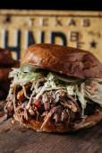 Texas Style Bbq Pulled Pork Sandwich