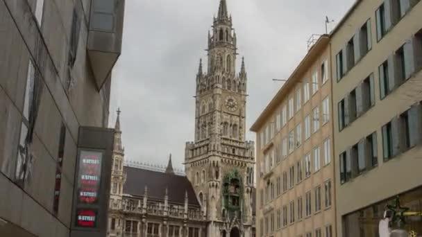 Hyperlapse Marienplatz mit Rathaus Marienplatz, Münchner Innenstadt Altstadt München, Deutschland - Januar 2015