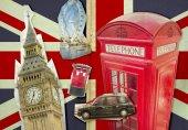 Collage of Big Ben, London Eye