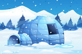 Photo Igloo in the north pole
