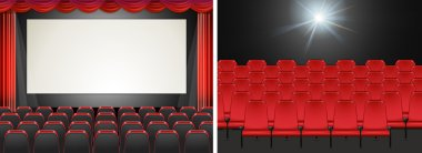 Movie screen in the cinema