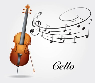 Cello and music notes