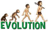 Fotografie Font design with word evolution