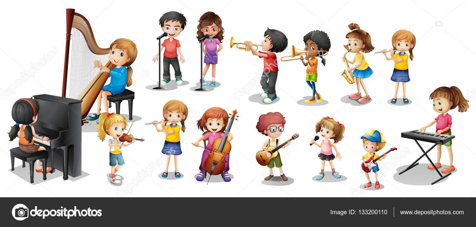 картинка играют на музыкальных инструментах