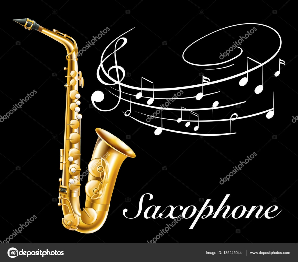 Poster design notes - Poster Design With Saxophone And Music Notes Stock Vector 135245044