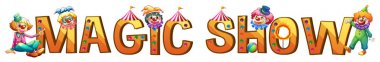 Font design for word magic show