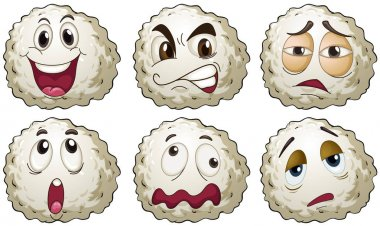 Different emotions on round balls