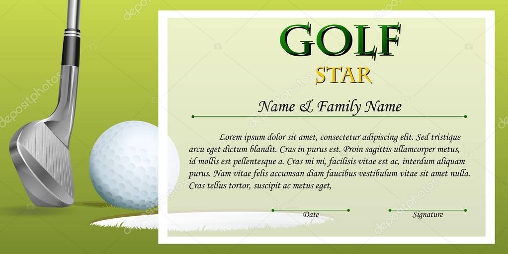 Golf certificates templates fieldstation golf certificates templates yadclub Gallery