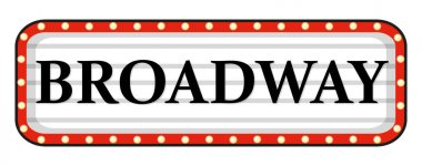 Broadway sign with red frame