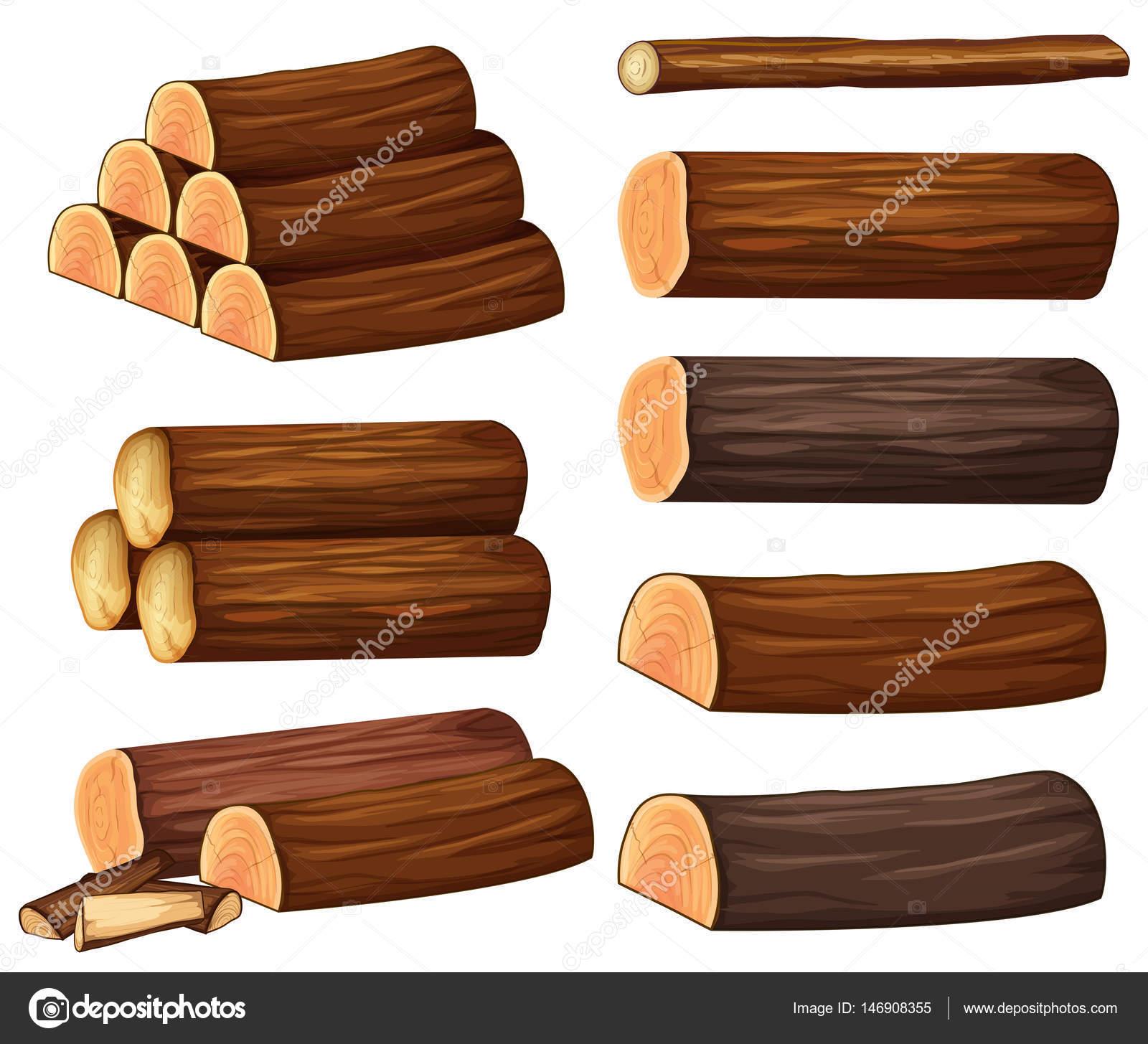 diff rents types de bois image vectorielle. Black Bedroom Furniture Sets. Home Design Ideas