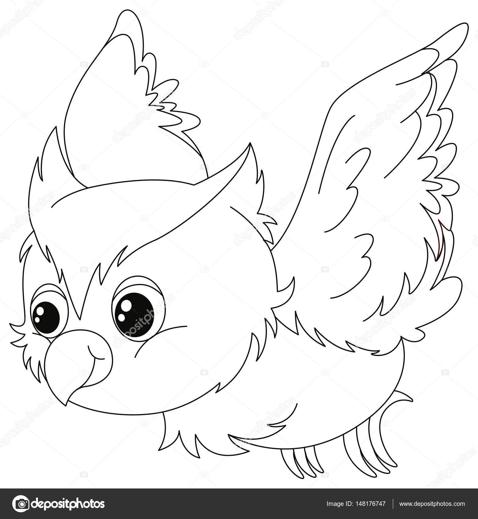 Animal Outline For Owl Flying Stock Vector C Interactimages