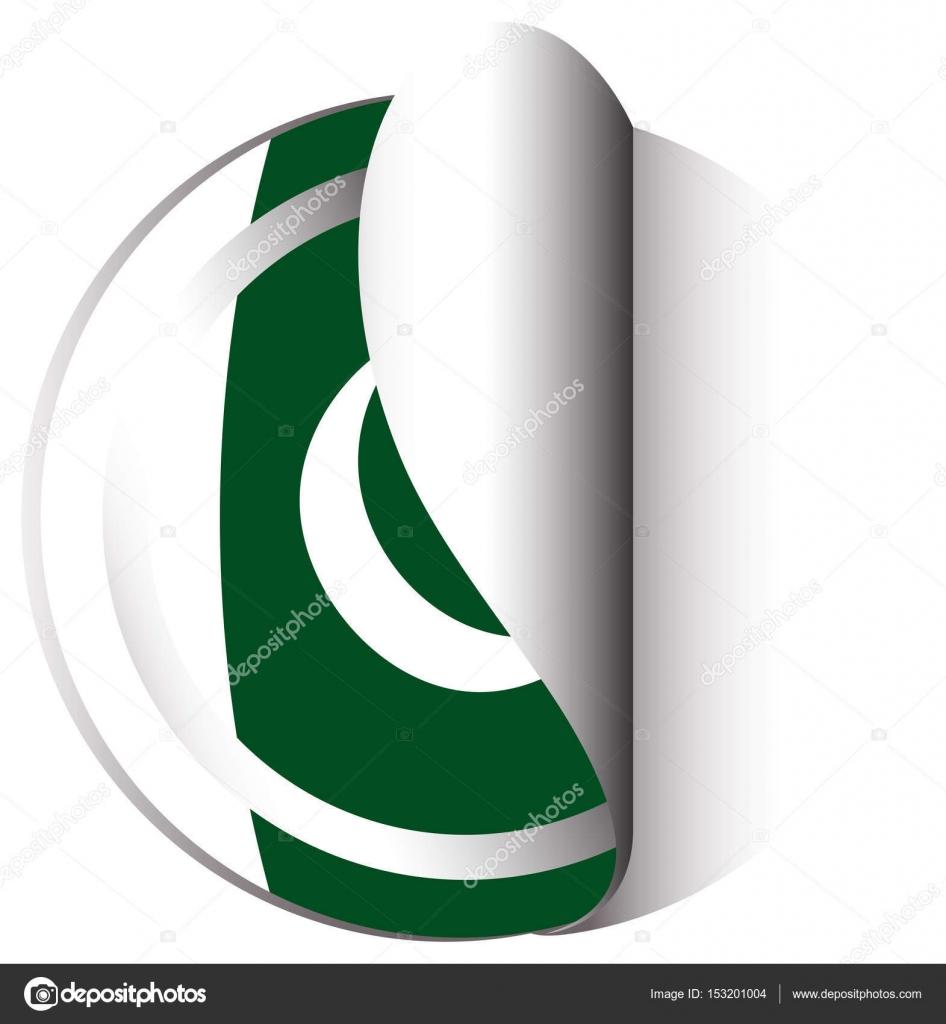 Création de vignette pour drapeau du pakistan image vectorielle