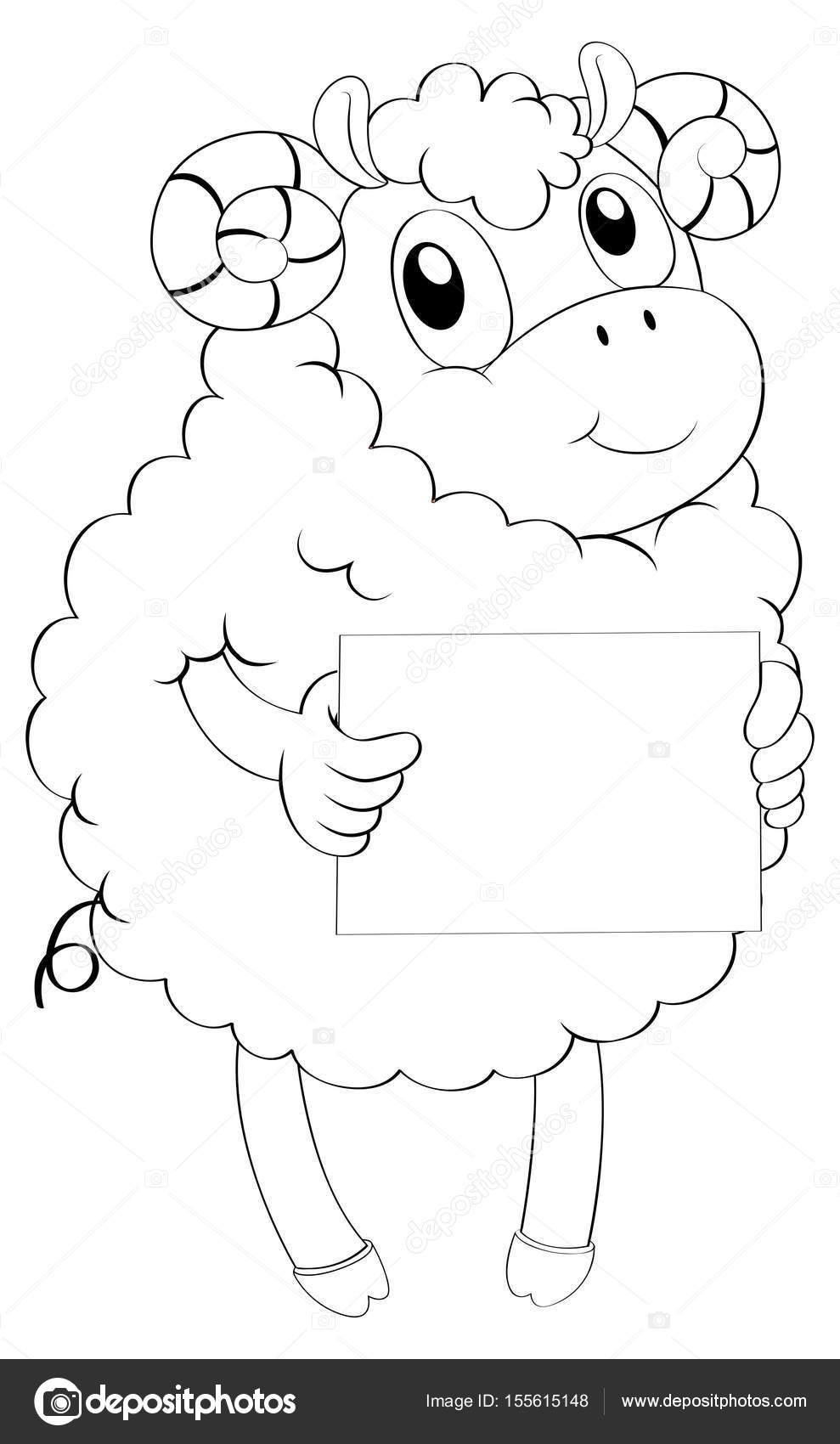 Animales Doodle para cordero — Archivo Imágenes Vectoriales ...