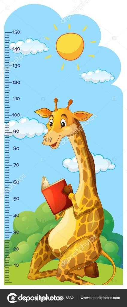 Growth chart ruler with giraffe reading book stock vector growth chart ruler with giraffe reading book stock vector geenschuldenfo Choice Image