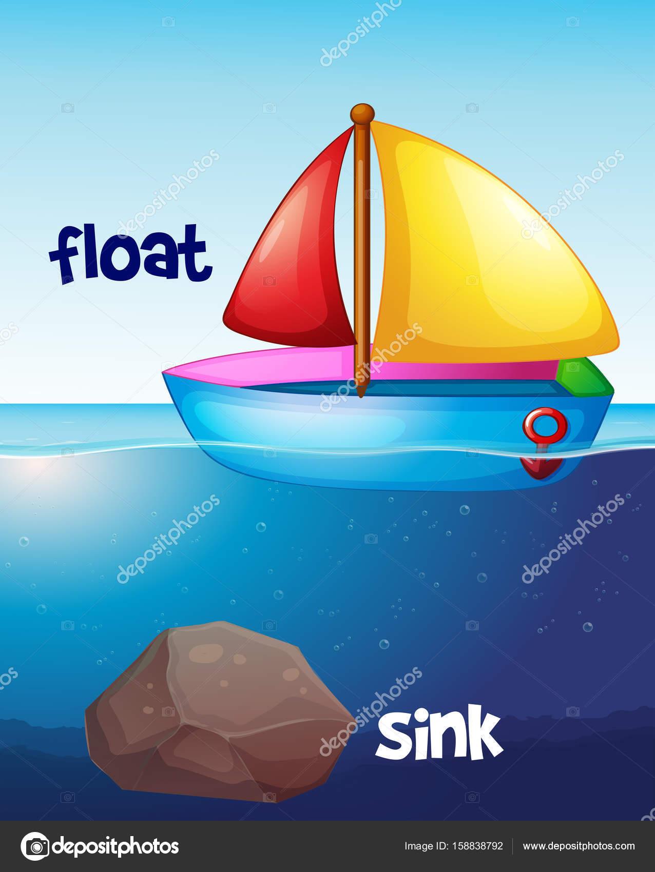 float vs sink images