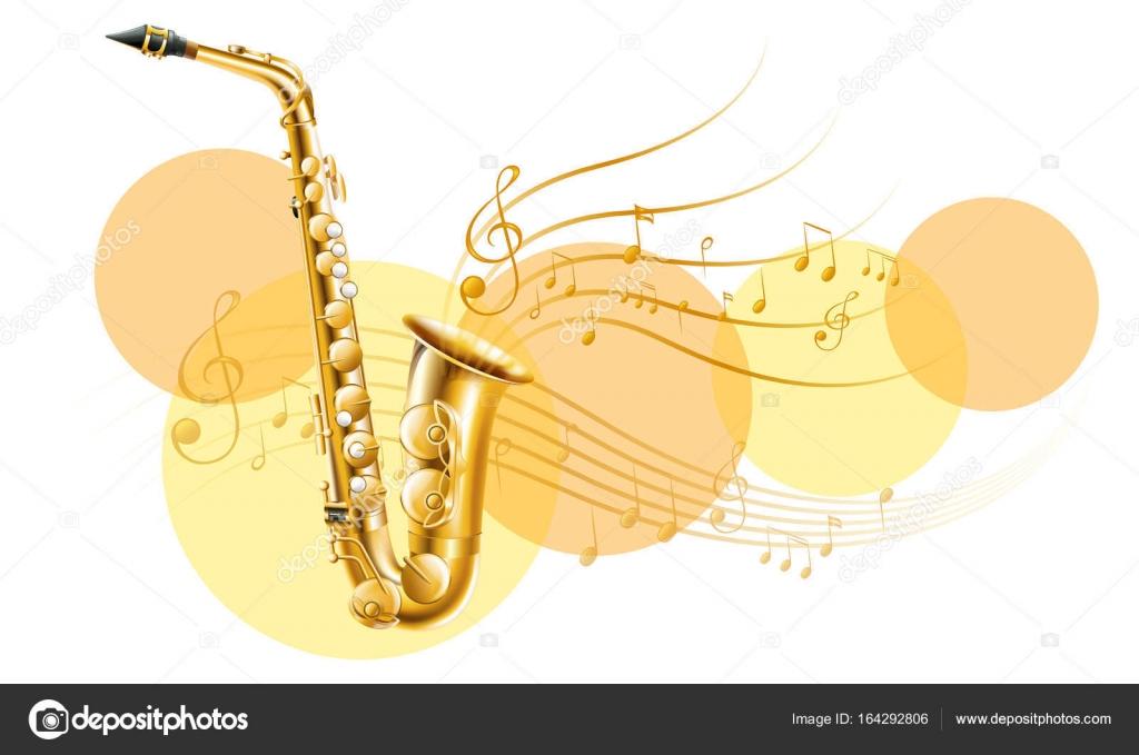 音符とゴールデン サックス