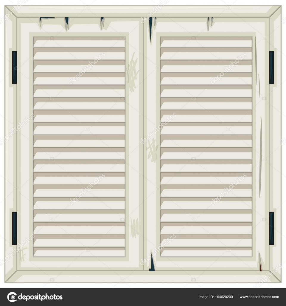 Alte Holzfenster in weiß lackiert — Stockvektor © interactimages ...