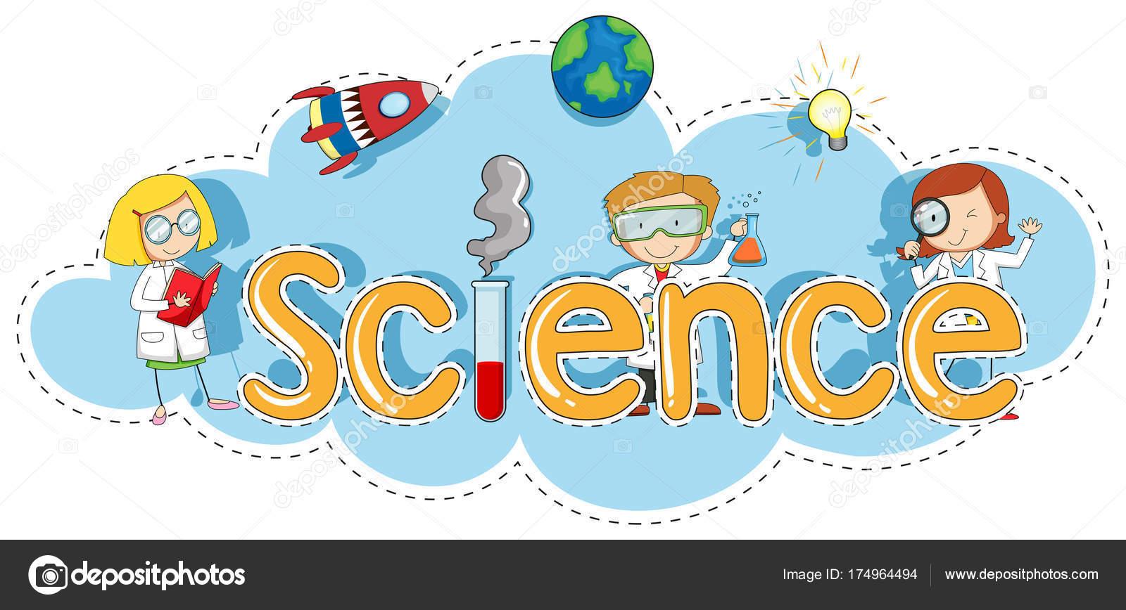Plantilla de etiqueta para la ciencia de la palabra — Archivo ...