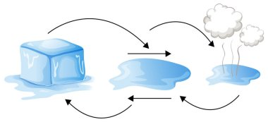 Diagram showing different status of water