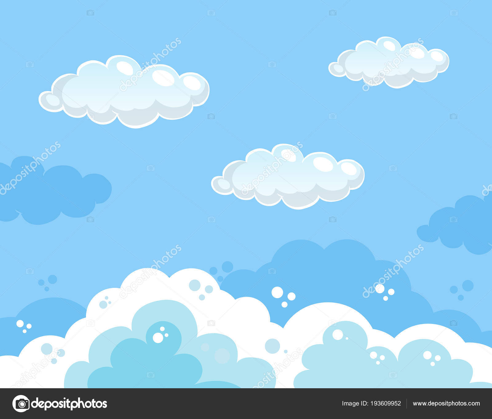 Beautiful Clear Blue Sky Background Stock Vector