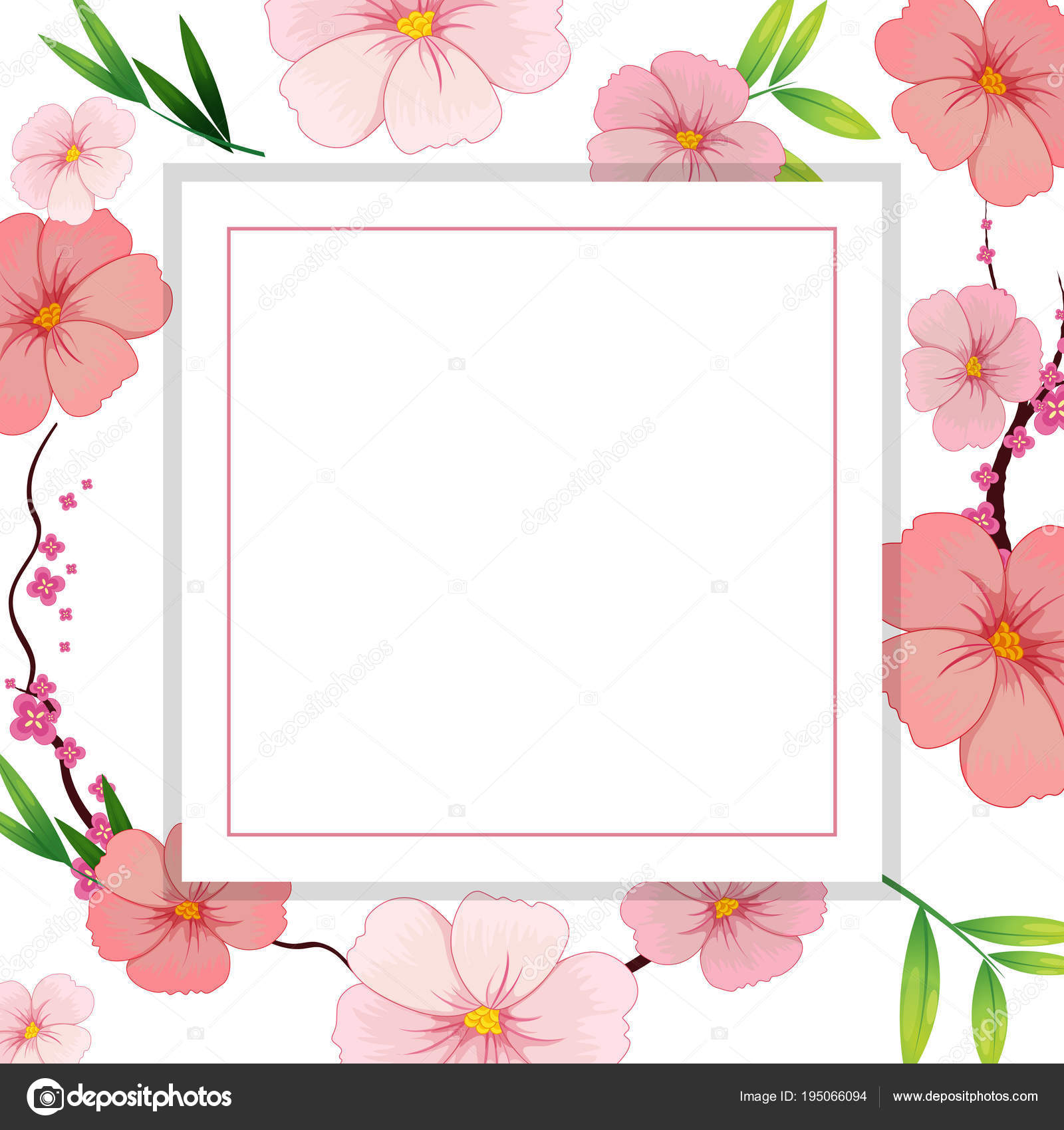 Beautiful pink hibiscus flower template stock vector beautiful pink hibiscus flower template illustration vector by interactimages izmirmasajfo