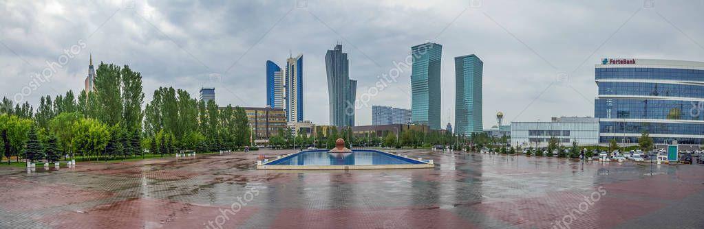A rainy day in Astana. Kazakhstan