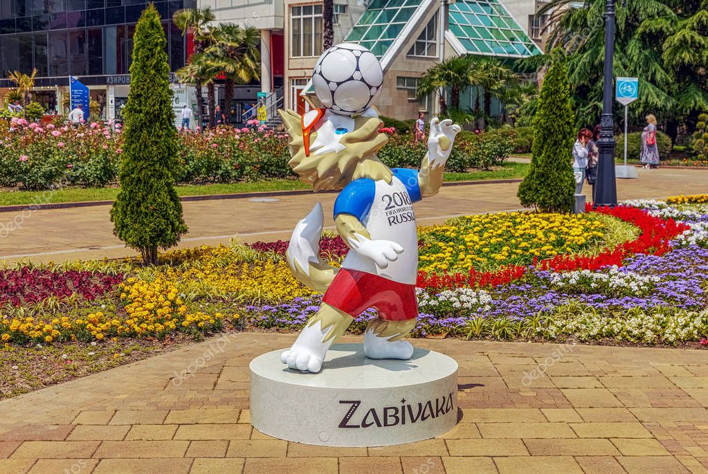 SOCHI, RUSSIA - JUNE 3, 2017: Zabivaka is the mascot of the World Cup 2018.