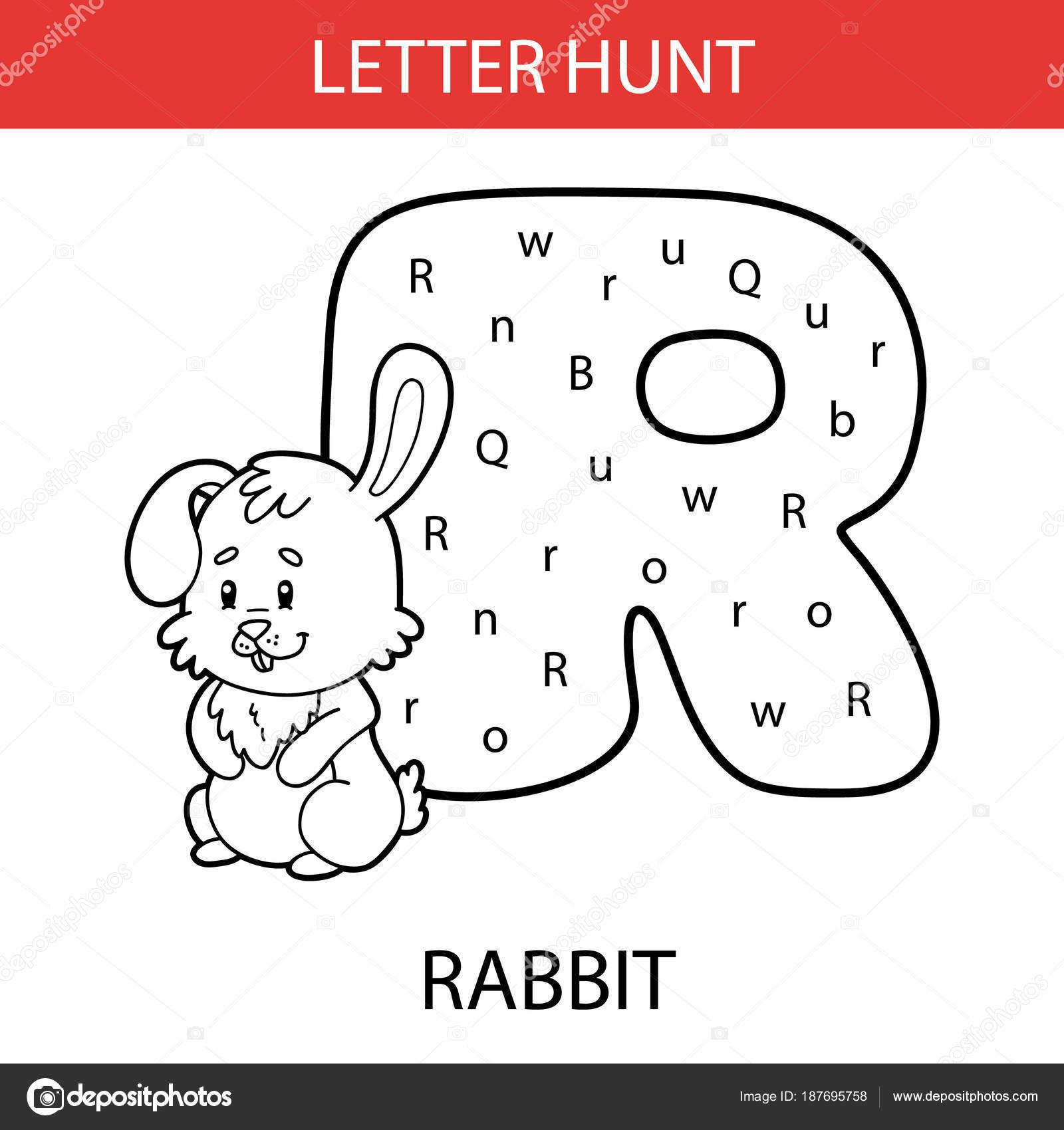 Ilustración Vector Hojas Trabajo Los Niños Para Imprimir Alfabeto ...