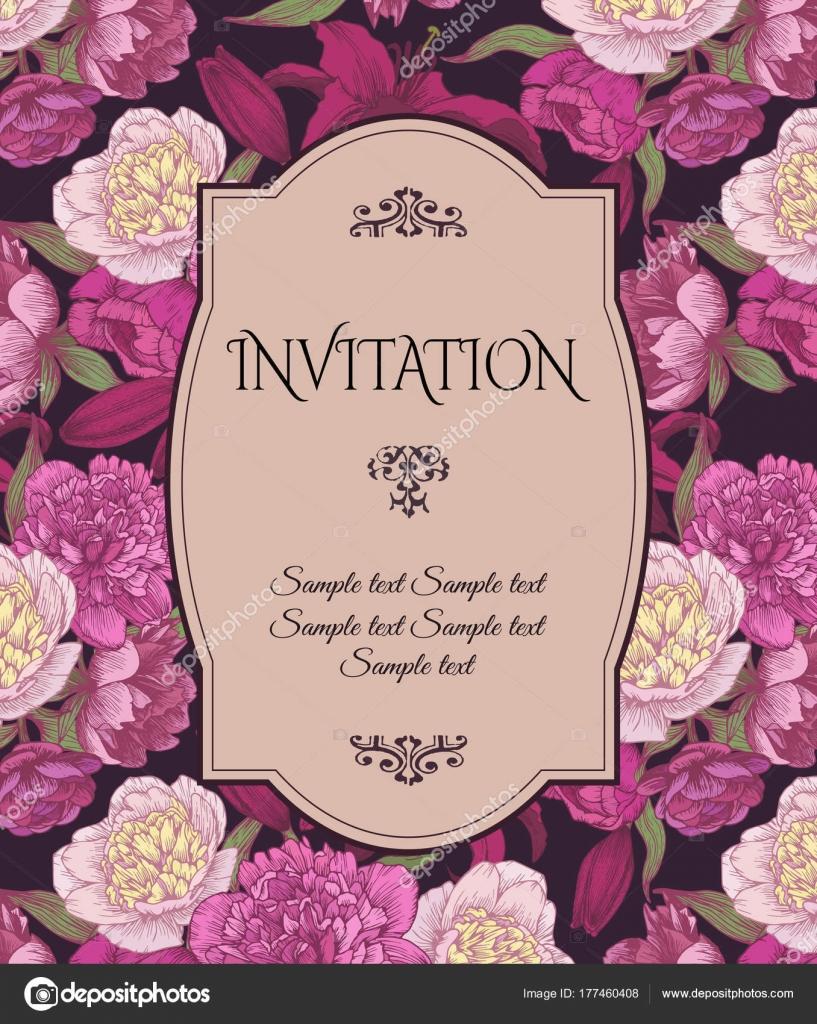 Invitaciones Vintage Para Baby Shower Tarjeta Invitación