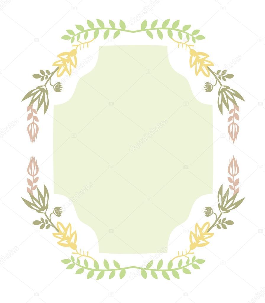 Großen Rahmen mit herbstlichen Kranz von Pflanzen. Kranz aus Blumen ...