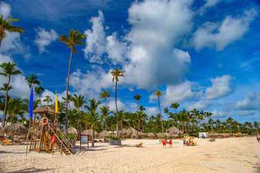 Bavaro beach. Atlantic coast of Dominican Republic