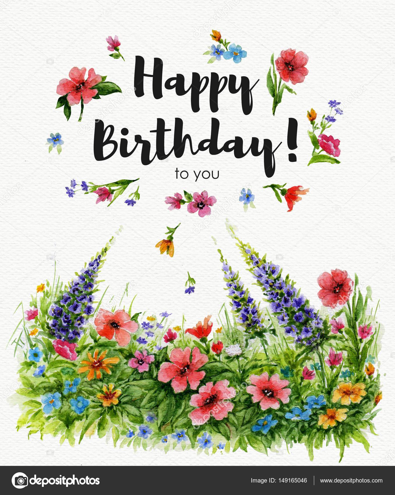 Картинки цветов и надписями с днем рождения
