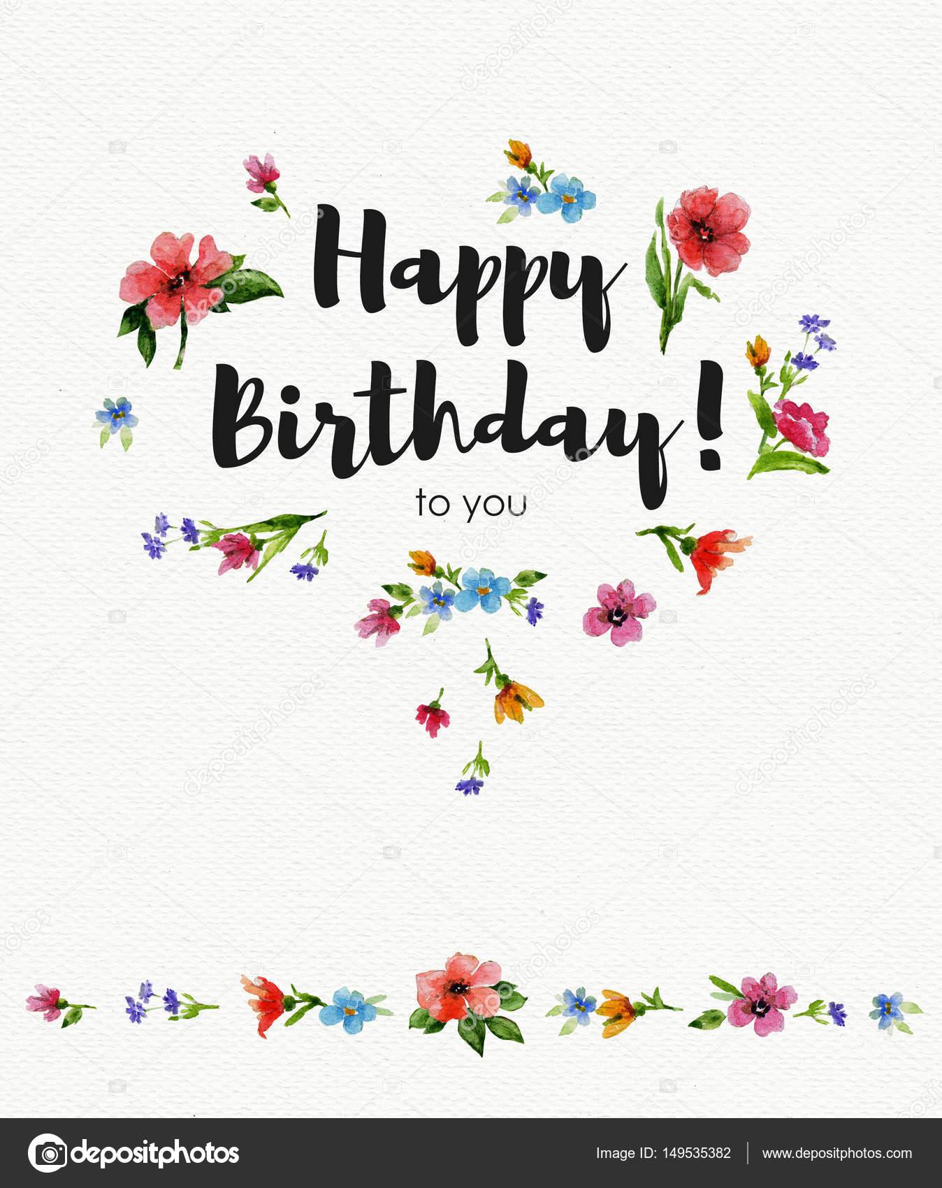 Cartolina D Auguri Di Buon Compleanno A Te Illustrazione Dell