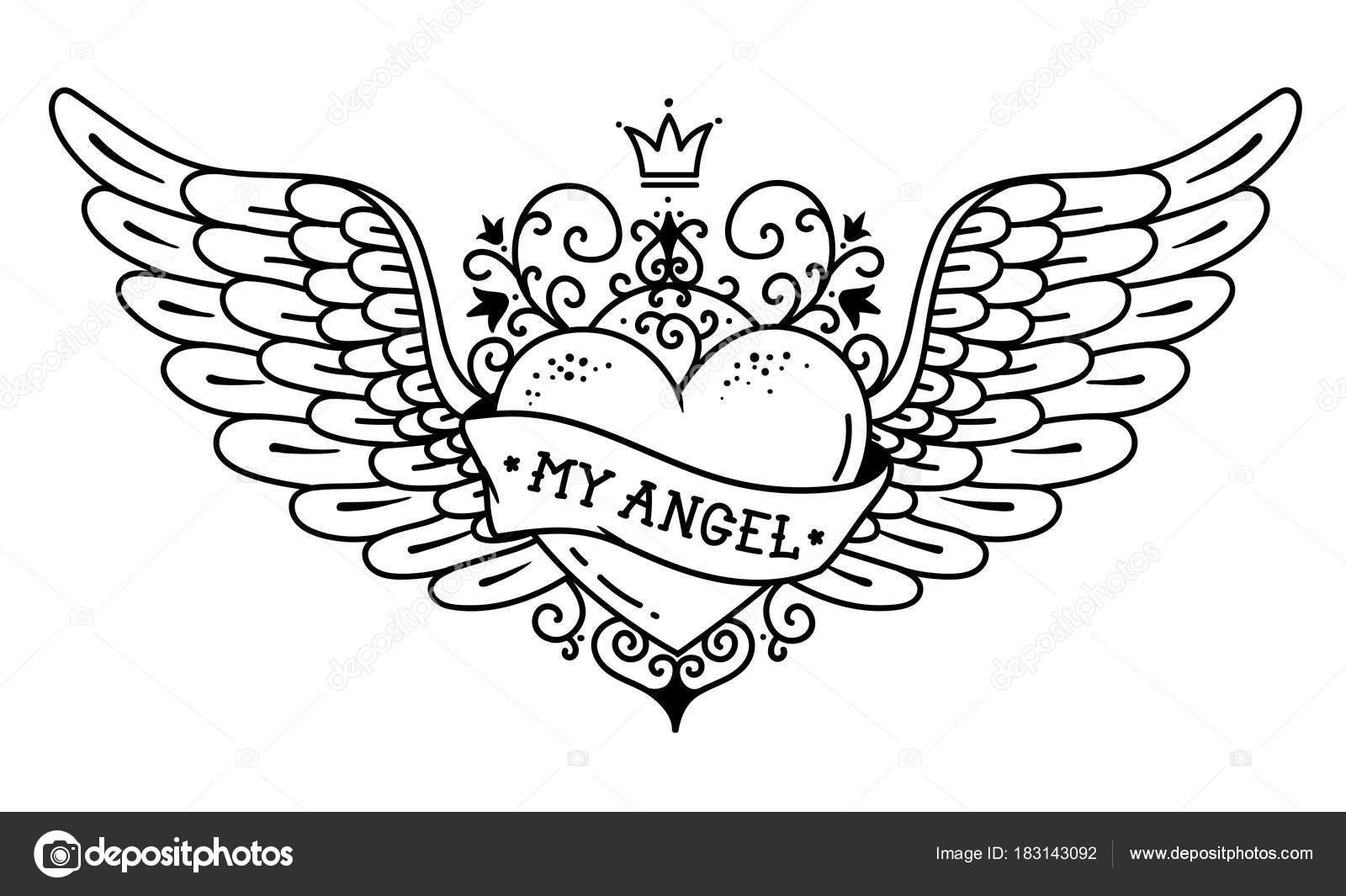 kleurplaat hartje vleugels kleurplaat hartje vleugels