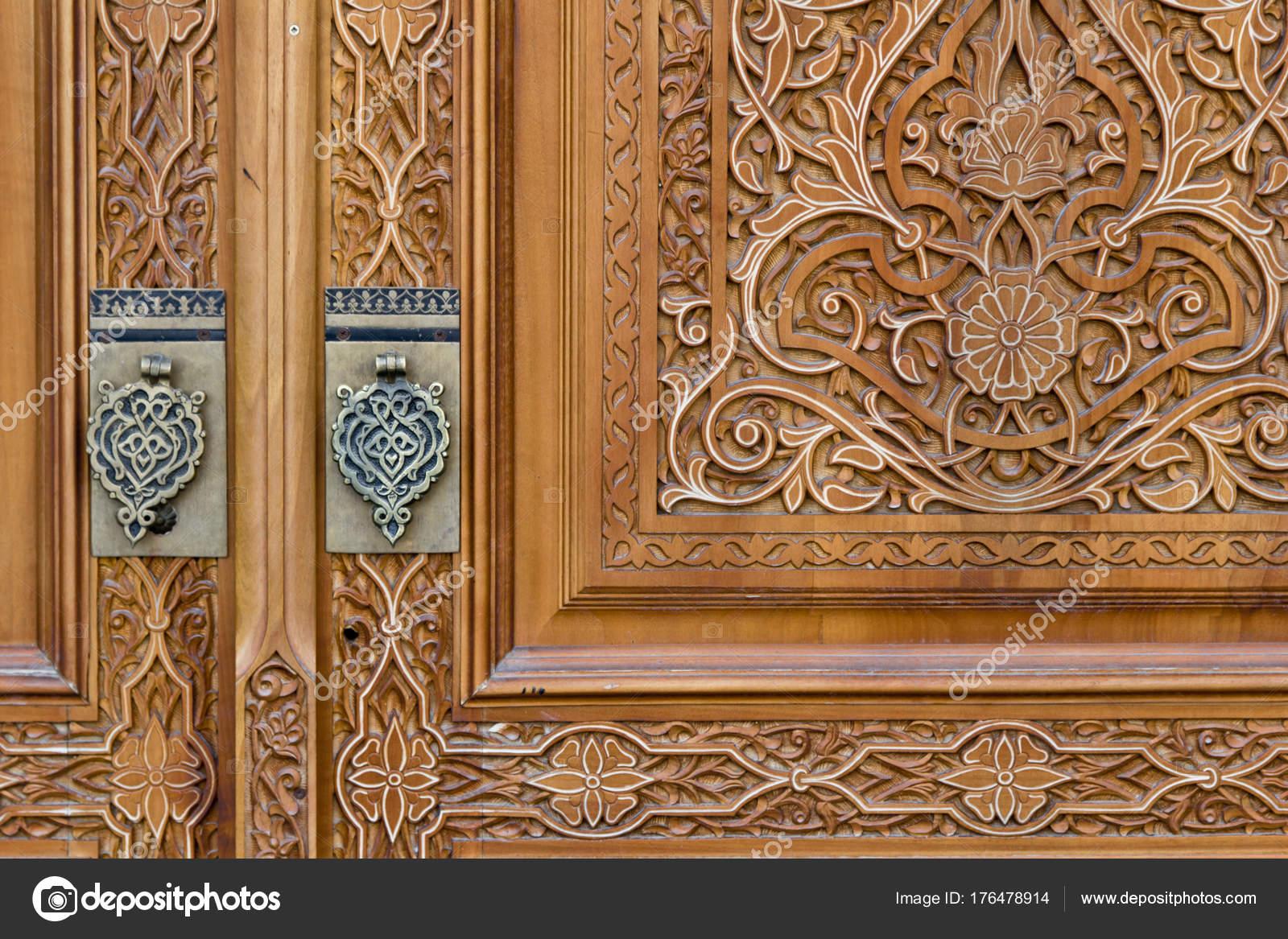 Décoration Porte Orientale Sculpture Sur Bois Ouzbékistan