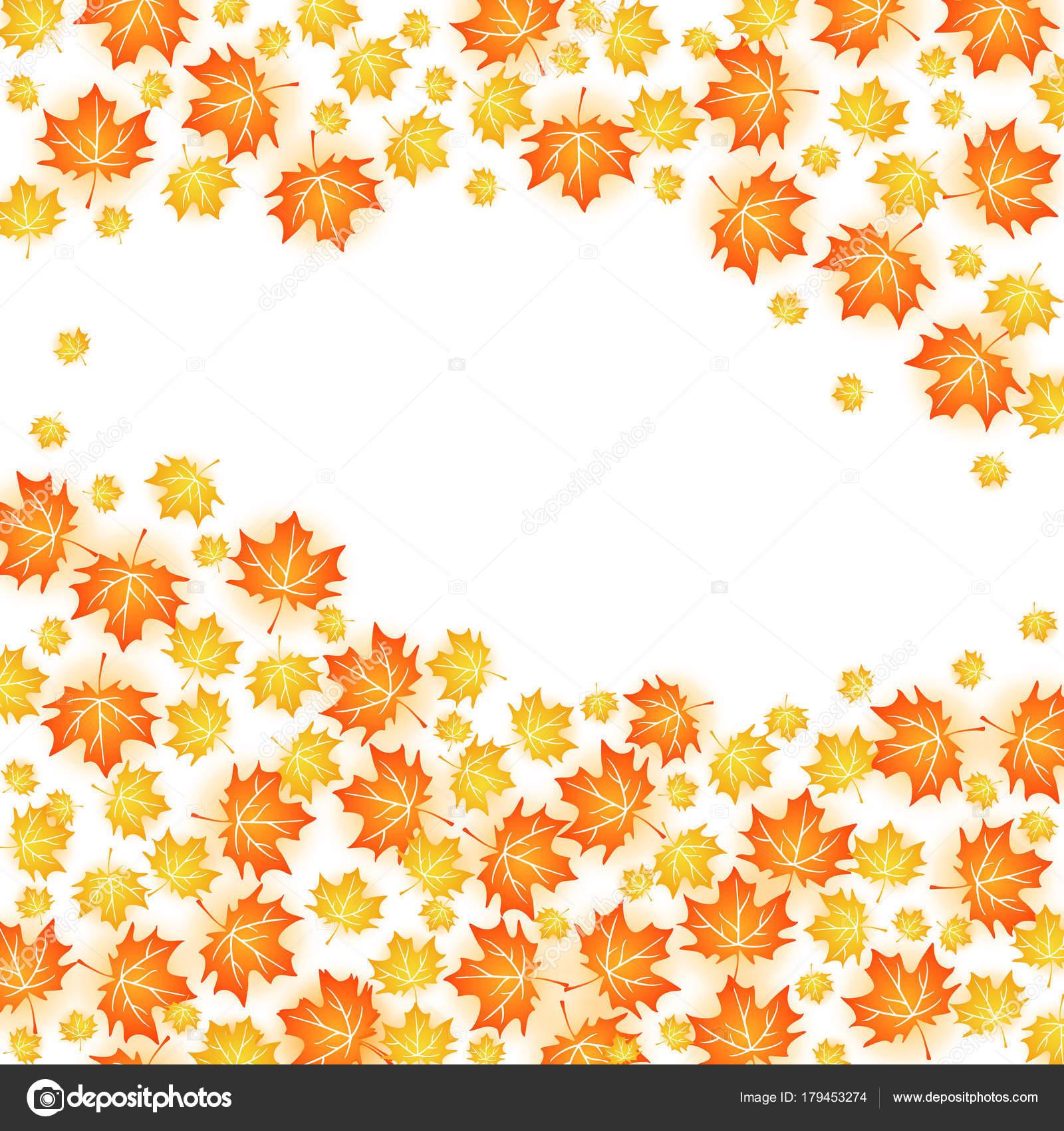 秋の背景イラストです 白秋のカエデの葉のベクター デザイン — ストック