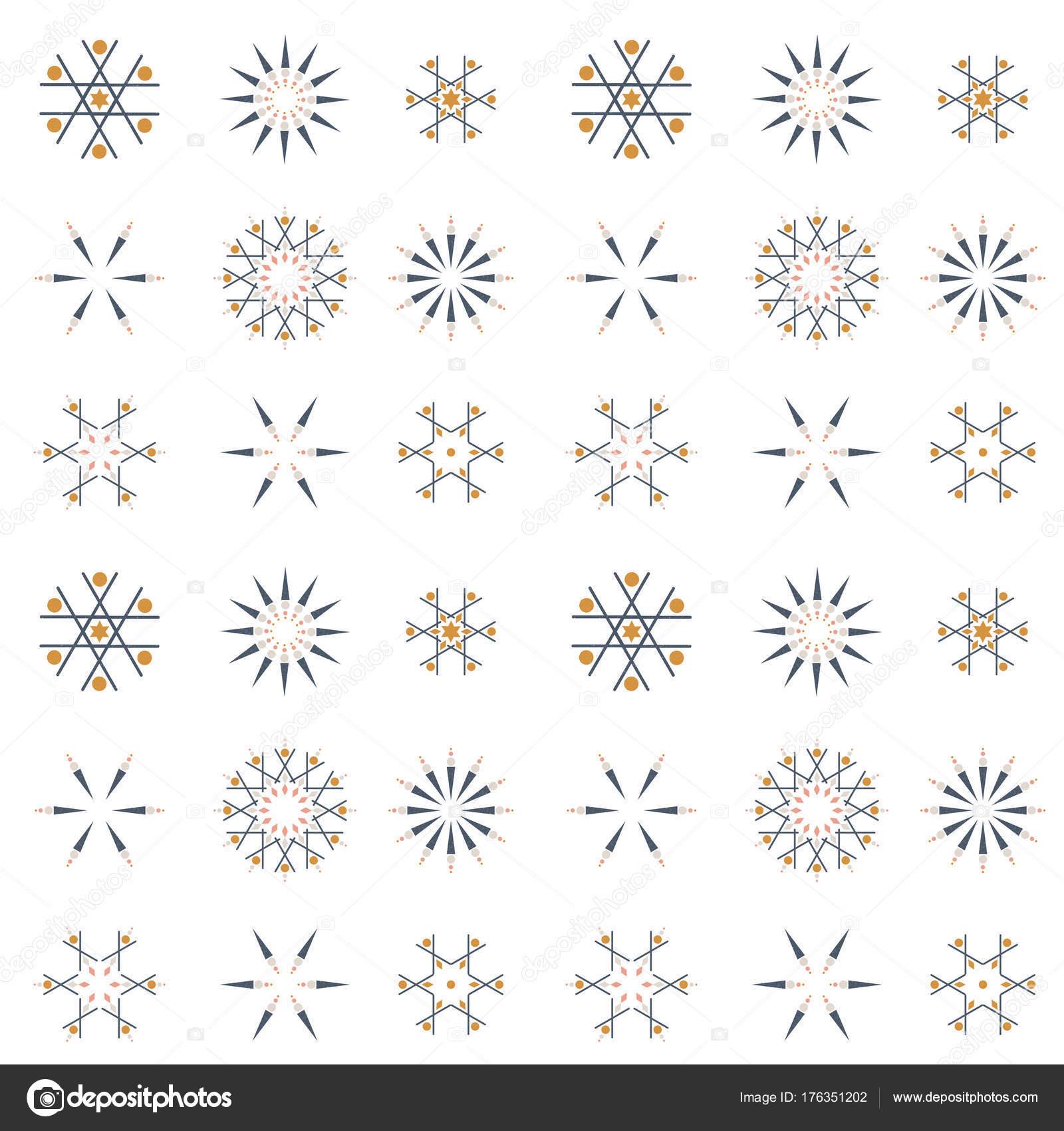 Vector Illustration Dessin Fond Noel Flocons Neige Image