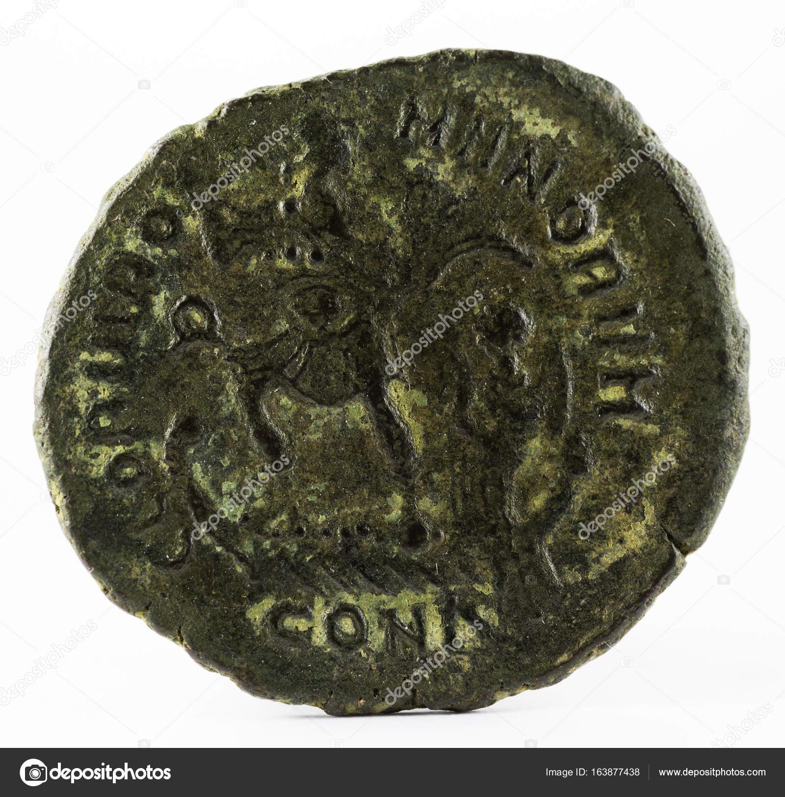 Römische Münze Des Valentinianus Ii Reverse Stockfoto Estellez