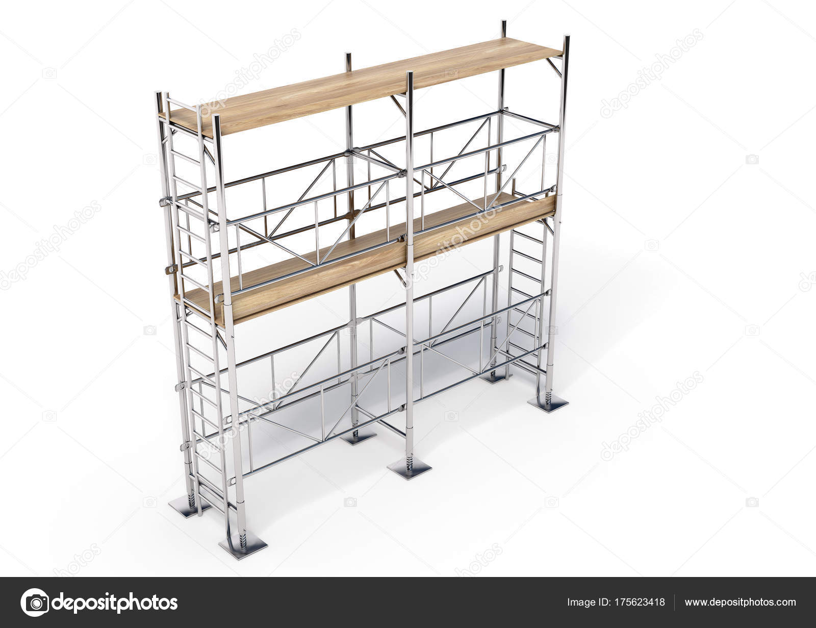 Scaffold Illustration Made Software — Stock Photo