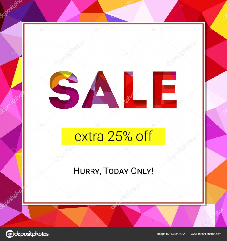 Design banner minimalist - Sale Banner On Low Poly Background With Elegant Typography For Luxury Sales Offers Modern Simple Minimalist Design Card Banner Tag Template