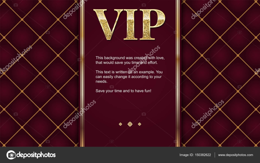 vip premium invitation card poster or flyer for party golden