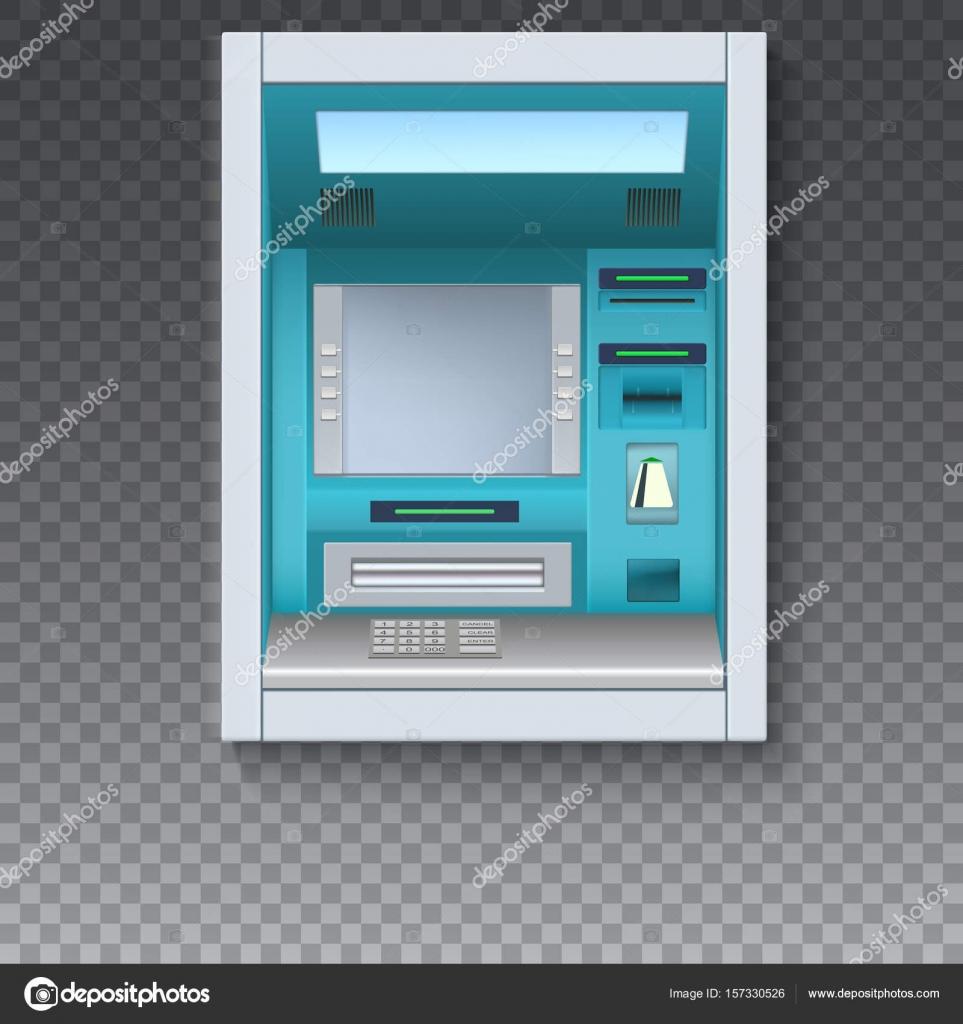 銀行現金自動支払機。Atm - 空白...