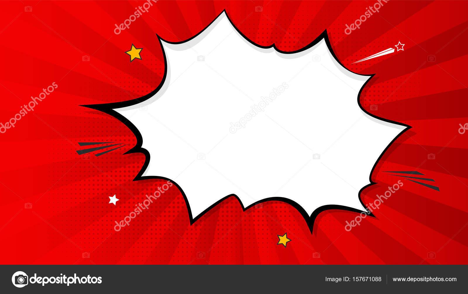pop art splash background explosion in comics book style blank