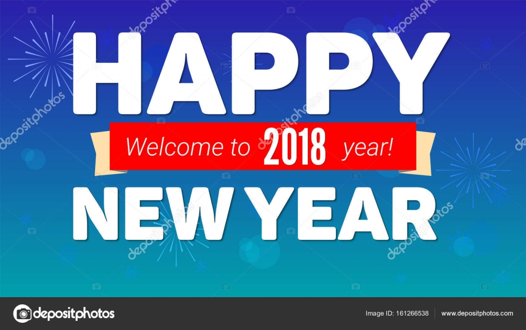 2018 happy new year greeting horizontal poster on night sky backdrop 2018 happy new year greeting horizontal poster on night sky backdrop fireworks snow m4hsunfo